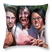 Zombie Run Nola 24 Throw Pillow