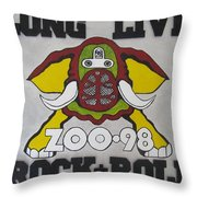 Zoo 98 Elephant Rock And Roll Throw Pillow