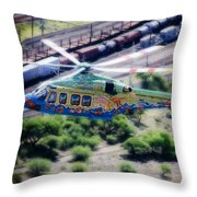 Zoo Flying Throw Pillow by Paul Job