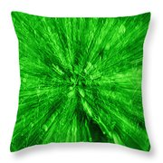 Zoom In Green Throw Pillow