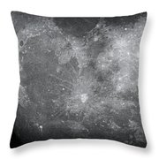 Zoom In Moon Throw Pillow