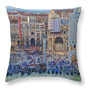 Zoom On St Marks Square Venice Italy Throw Pillow