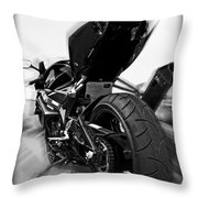 Zoomed Gsxr Throw Pillow