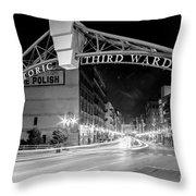 Zooming Past Historic Third Ward Throw Pillow