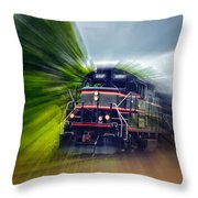 Zooming Through Ontario Throw Pillow
