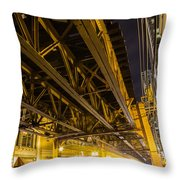 Zooming Under L Throw Pillow