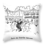 Zorba The Used-car Salesman Throw Pillow