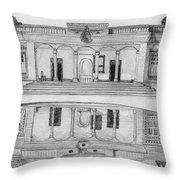 Zoroastrian Temple Throw Pillow