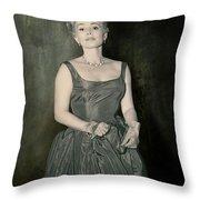Zsazsa Gabor In The 1950's Throw Pillow