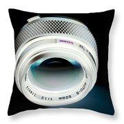 Zuiko 50mm F1.2 Throw Pillow