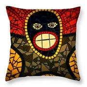 Zulu Man In Lomo Throw Pillow