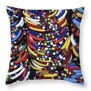 Zulu Necklace Throw Pillow
