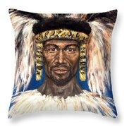 Zulu Warrior Throw Pillow