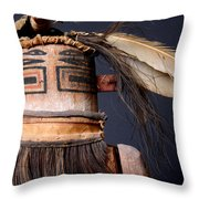 Zuni Katsina Throw Pillow