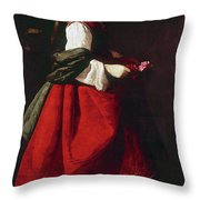 Zurbur�n Saint Casilda Throw Pillow