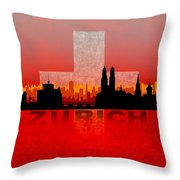 Zurich City Throw Pillow