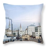 Zurich Throw Pillow by Swiss School