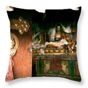 Zuthrul Phug Monastery Milarepas Cave Throw Pillow