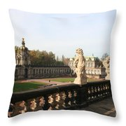 Zwinger Courtyard  Dresden  Throw Pillow