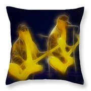 Zz Top-ant-ge8a-fractal Throw Pillow