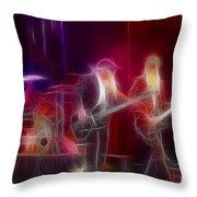 Zz Top-rhythmeen-c23-fractal-4 Throw Pillow