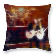 Zztop Recycler Group Fractal Throw Pillow