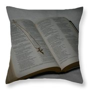 Daily Reading Throw Pillow