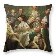 A Caricature Group Throw Pillow