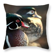 A Couple Of Wood Ducks Throw Pillow