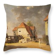 A Scene From 'the Maid Of The Mill' Throw Pillow