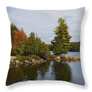 Algonquin - Canoe Lake Throw Pillow