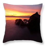 Atomic Rock Throw Pillow