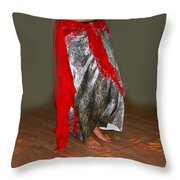 Belly Dancing Throw Pillow