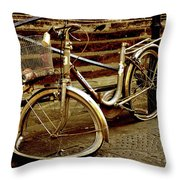 Bicycle Breakdown Throw Pillow