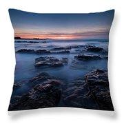 Blue Dusk Throw Pillow
