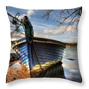 Blues - Boat Throw Pillow