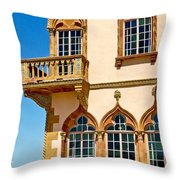 Ca D Zan  Winter Home Of John And Mable Ringling Throw Pillow
