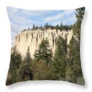 Canadian Rocky Mountain Hoodoos Bc Throw Pillow