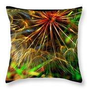 Dandelion Dreamtime Throw Pillow