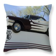 Route 66 De Soto  Throw Pillow