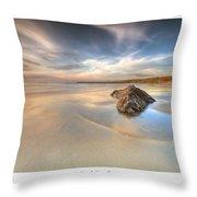 Dusk On The Beach Throw Pillow
