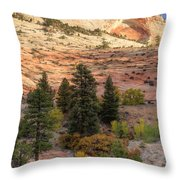 East Zion Canyon Hdr Throw Pillow