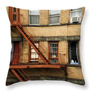 Fire Escapes - Nyc Throw Pillow
