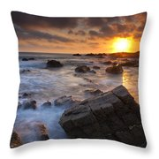 Hartland Quay  Throw Pillow
