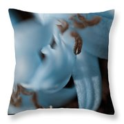 Icy Bluebells Throw Pillow