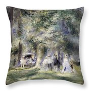In The Park At Saint-cloud Throw Pillow