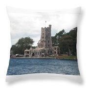 Island Castle Throw Pillow