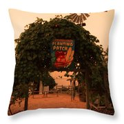Ivy Planting Patch Arch Throw Pillow