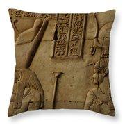 Karnak Egypt Hieroglyphics Throw Pillow