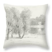 Landscape - Late 19th-early 20th Century Throw Pillow